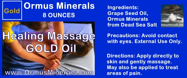 Ormus Minerals Healing Massage Oil With Ormus Gold 8 oz