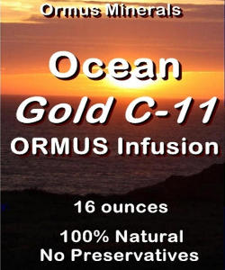 Ormus Minerals -Gold with Ocean Ormus C-11 Infusion
