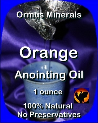 Ormus Minerals -Anointing Oil with Orange