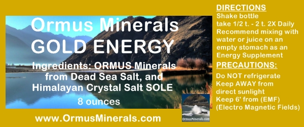 Ormus Minerals Gold Energy